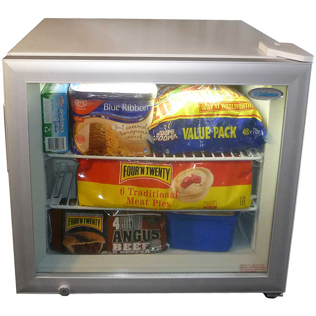 Small Glass Door Freezer 50litre Capacity Great For Busy