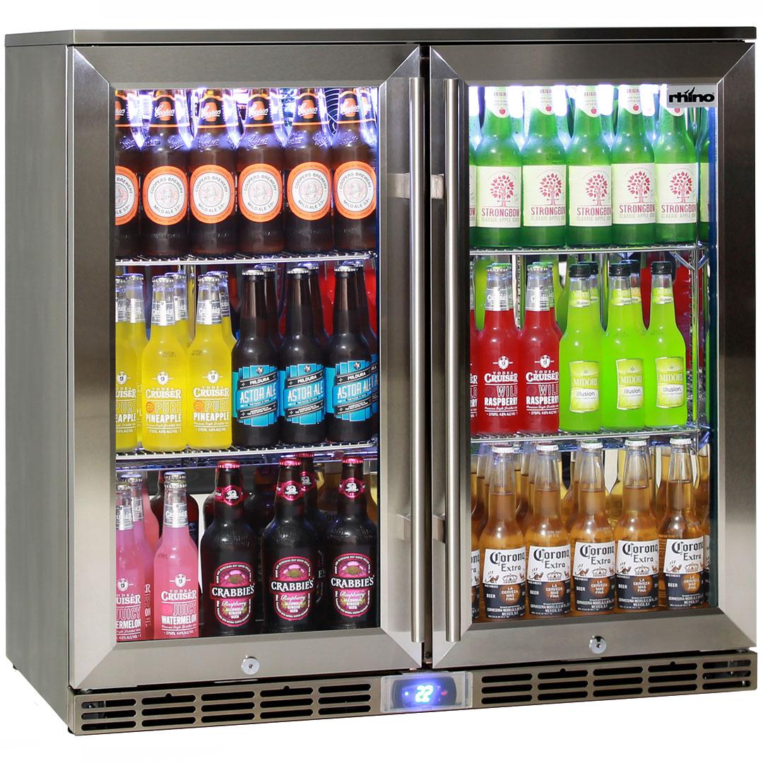 Rhino 2 Door Alfresco Outdoor Glass Door Bar Refrigerator
