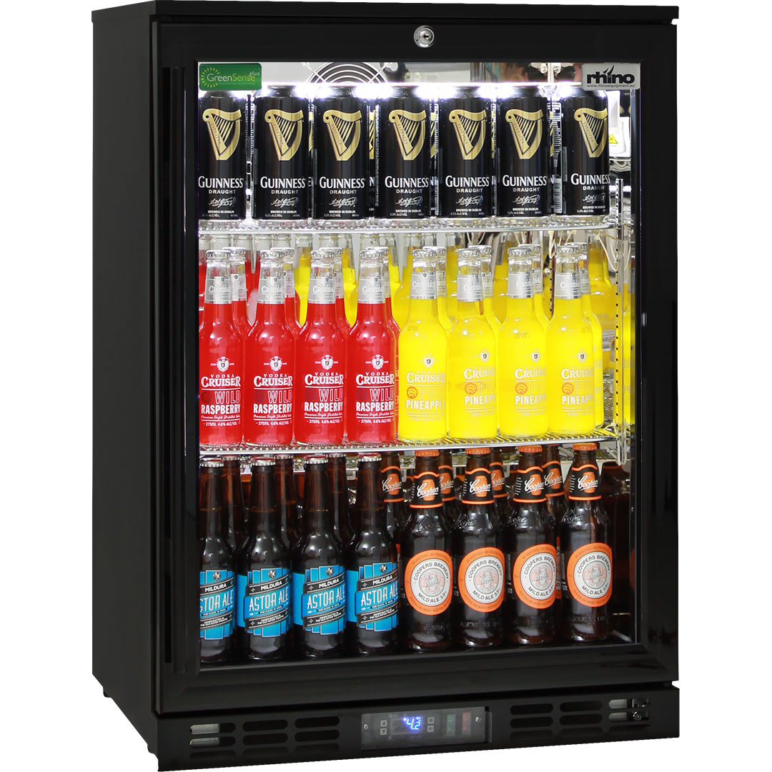 Commercial glass door bar fridge available delivery for Energy efficient brands