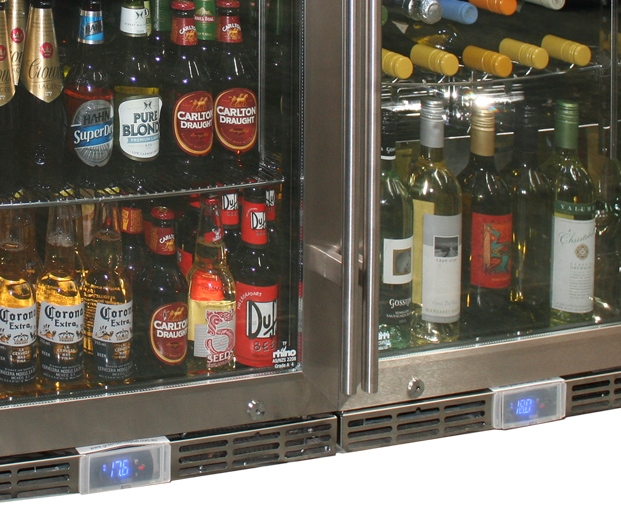 Matching Alfresco Outdoor Beer And Wine Fridge Combination