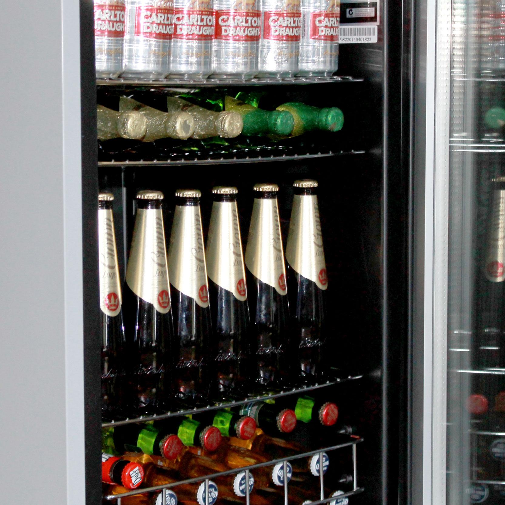 100 bar fridge glass door blizzard bar2 double door bottle