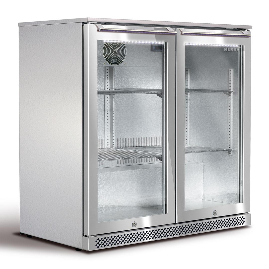 Refrigerator Outdoor 2 Glass Door Alfresco Husky Bar Fridge Available Brisbane Perth
