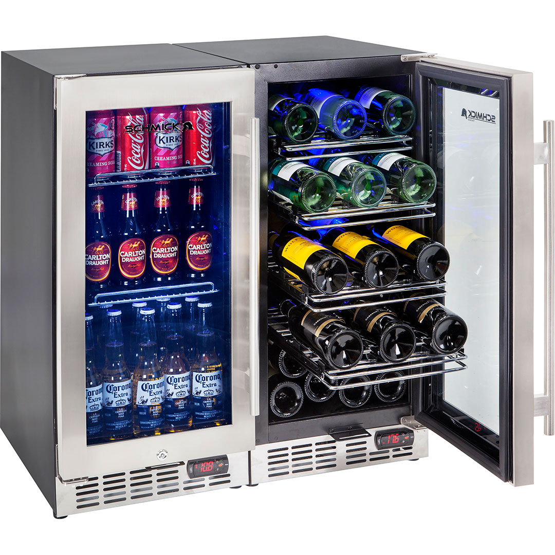 Quiet Beer Wine Bar Fridge Yc100 Combo 4