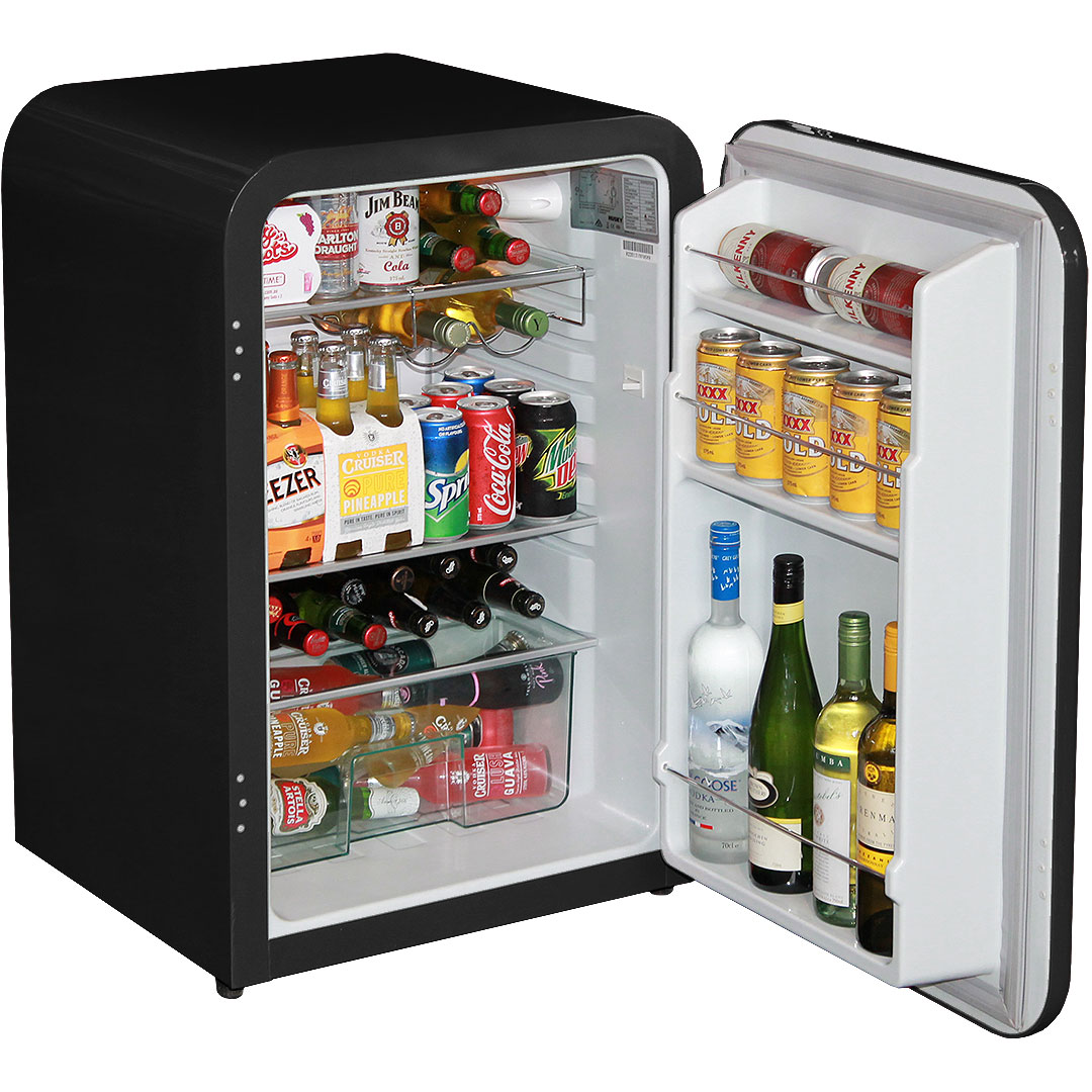 Husky Retro 130 Litre Trendy Under Counter Bar Fridge