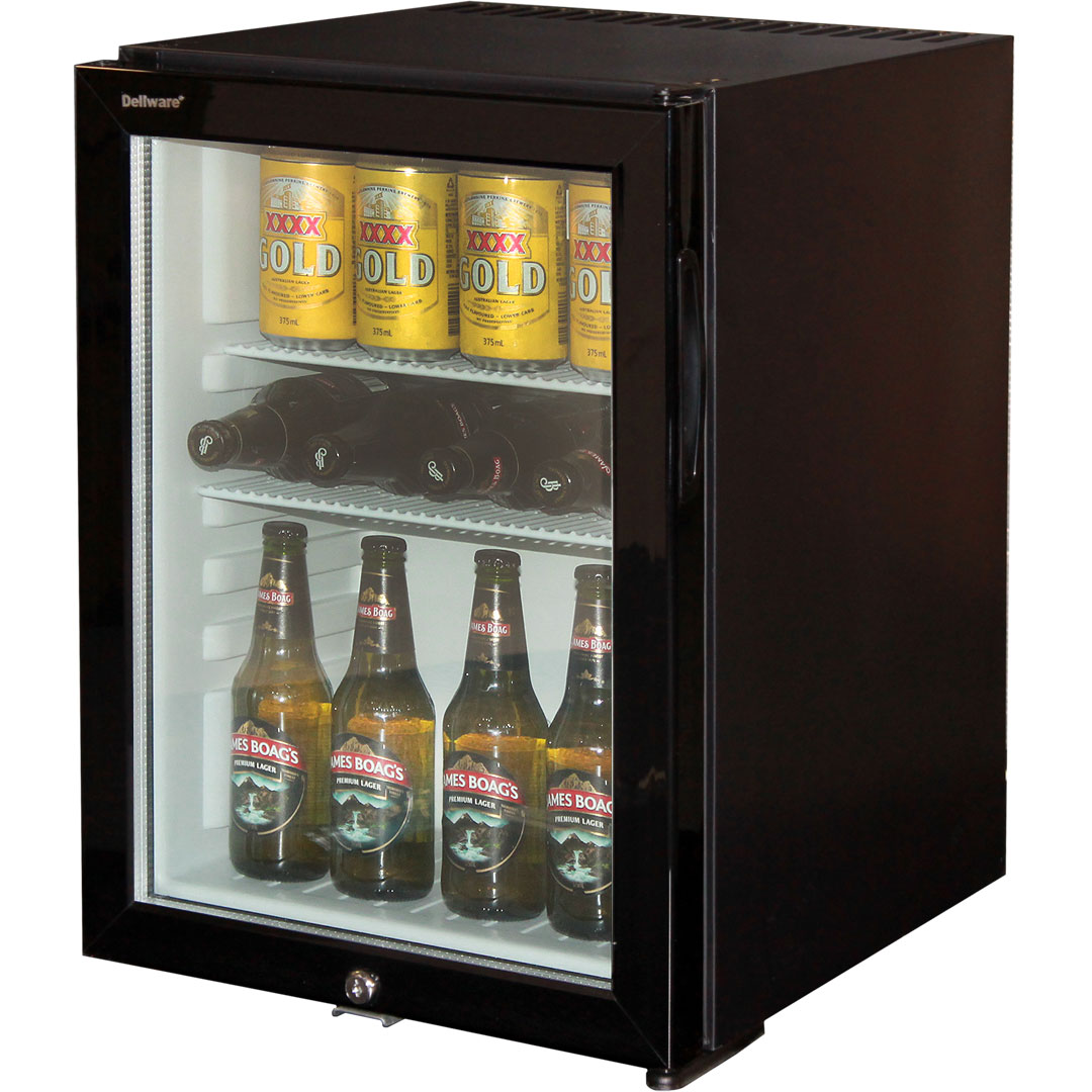 Silent Mini Bar Fridge With Triple Glass Door And Lock 40ltr