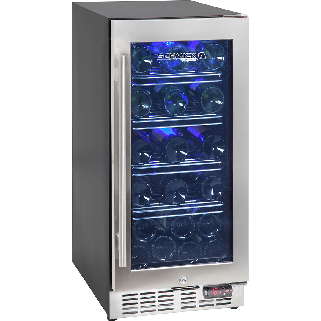 Wine Fridge With Glass Door Front Venting And Quiet