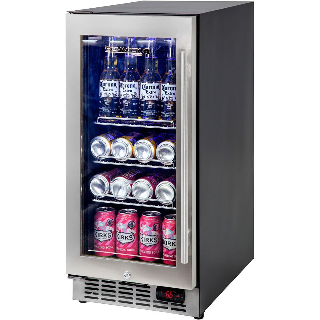 Front venting glass door bar fridge very quiet operation designed under bench quiet bar fridge yc100b 1 eventelaan Gallery
