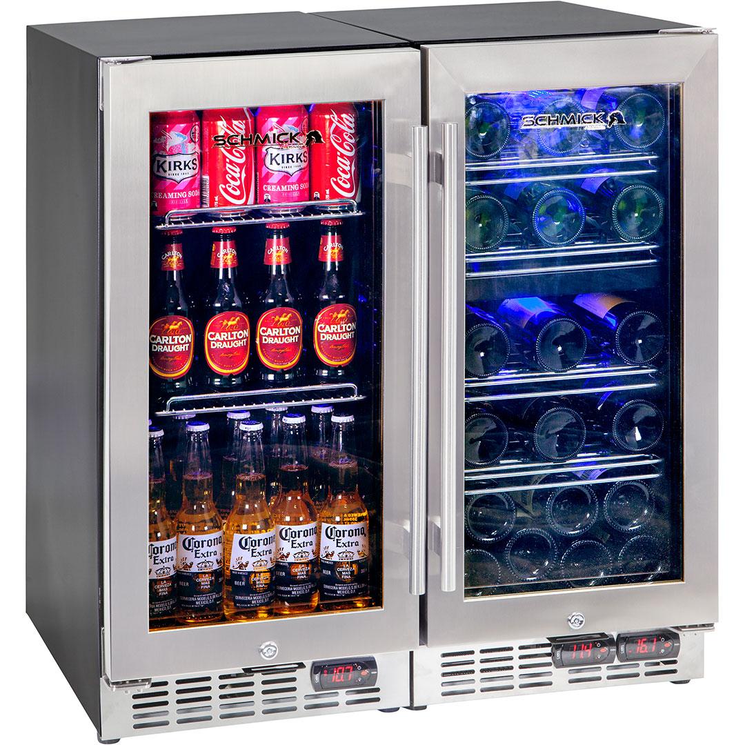 beer and wine 3 zone indoor under bench quiet bar fridge combination. Black Bedroom Furniture Sets. Home Design Ideas