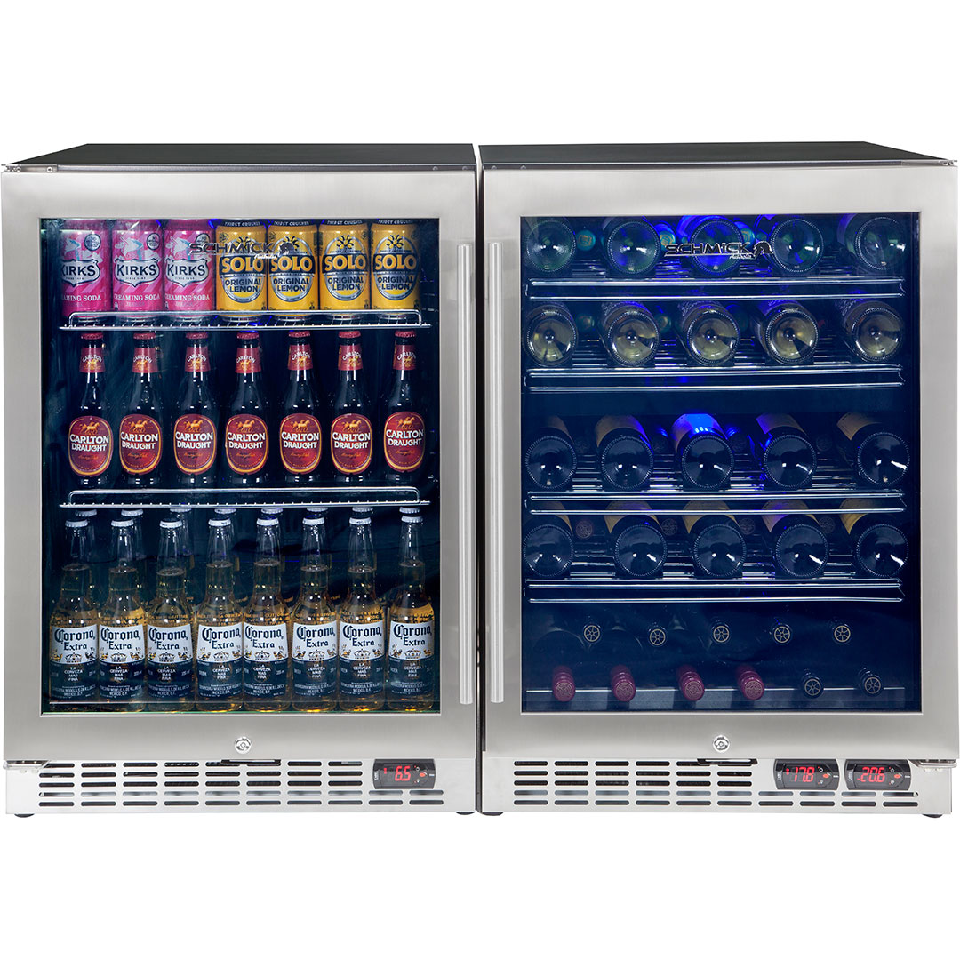 3 Zone Beer And Wine Under Bench Refrigerator Made For Red