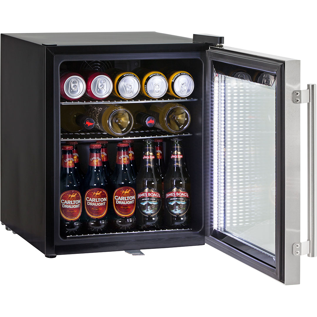 Triple Glass Door Bar Fridge Tropical Rated Led Lighting