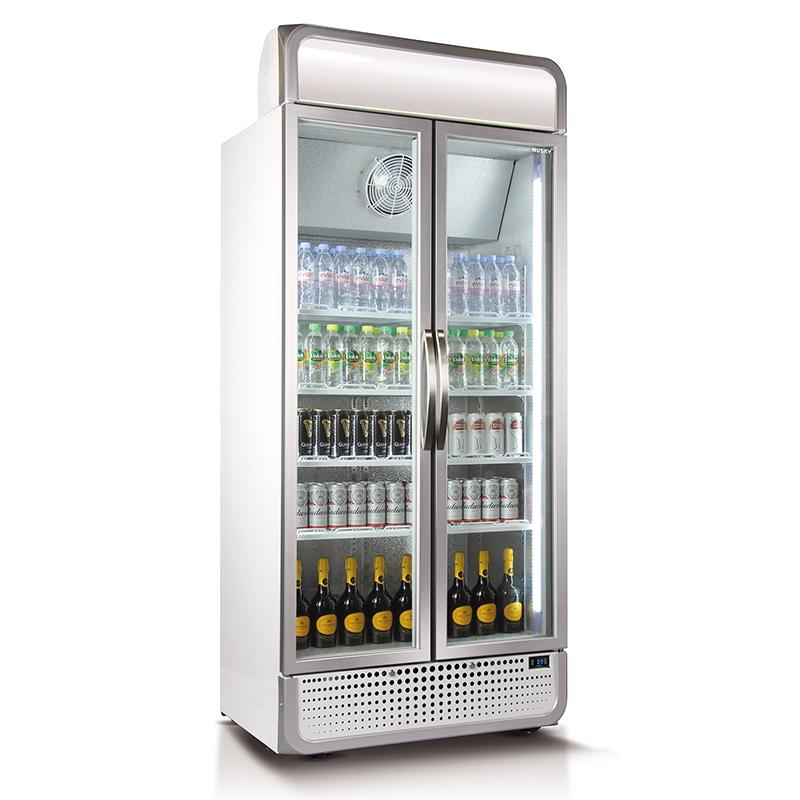 Husky Glass 2 Door Upright Commercial Energy Saving Bar Fridge Model