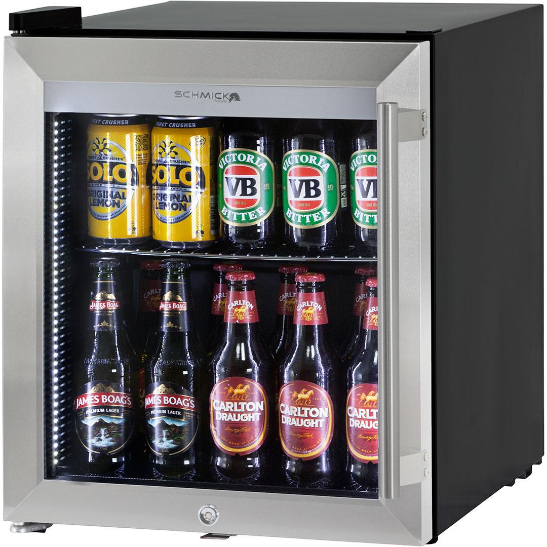 Glass door bar fridge tropical rated led lighting and lock left mini bar fridge ss door hus sc50l ss planetlyrics Images