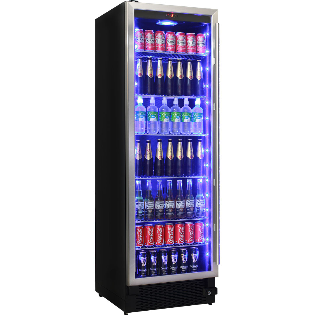 Schmick Glass Door Upright Bar Fridge With Lock And Quiet