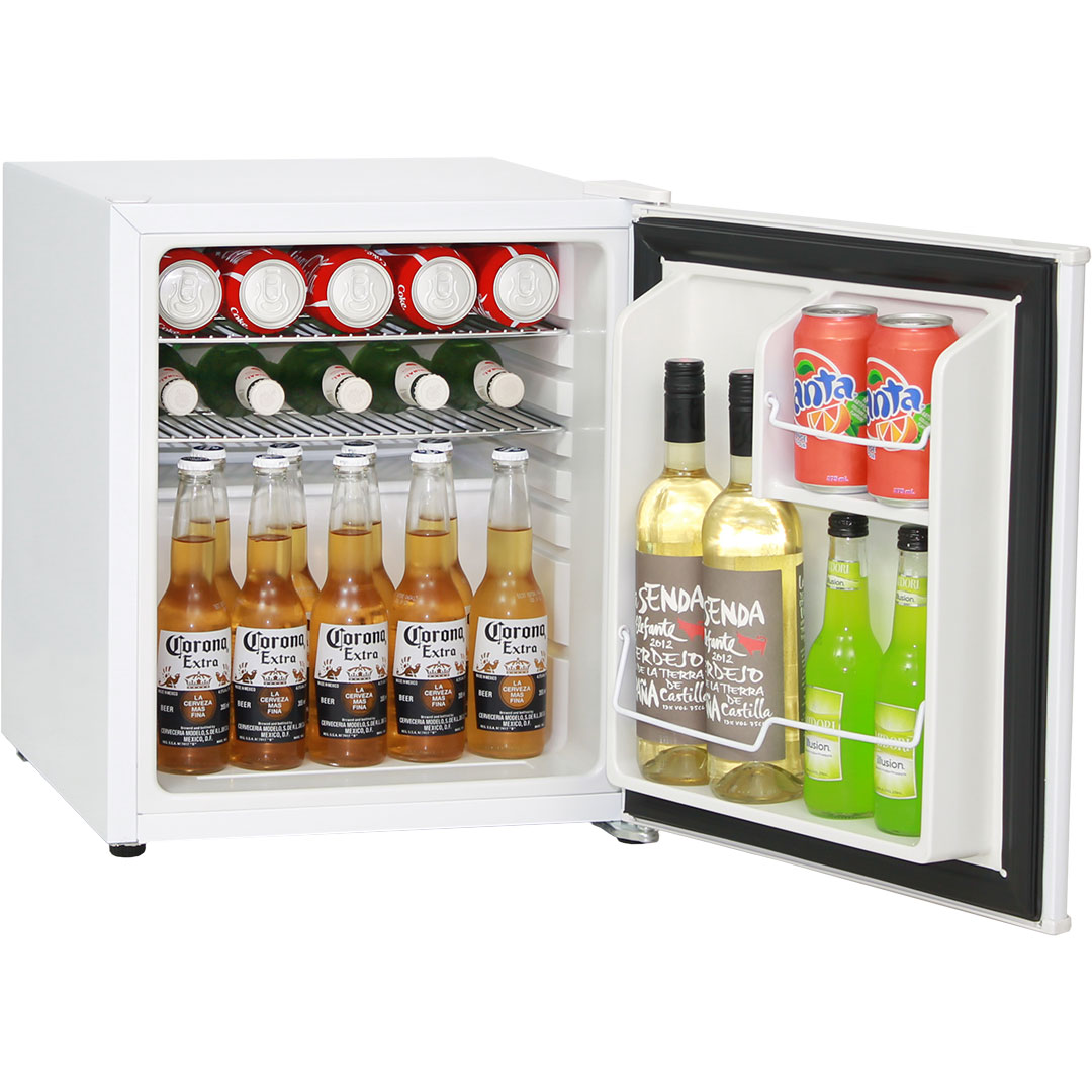 Mini Vintage Retro Bar Fridge 46 Litre All White With