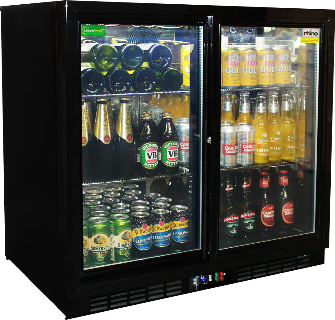glass 2 door sliding commercial back bar bar fridge energy saving with lg compressor australia. Black Bedroom Furniture Sets. Home Design Ideas