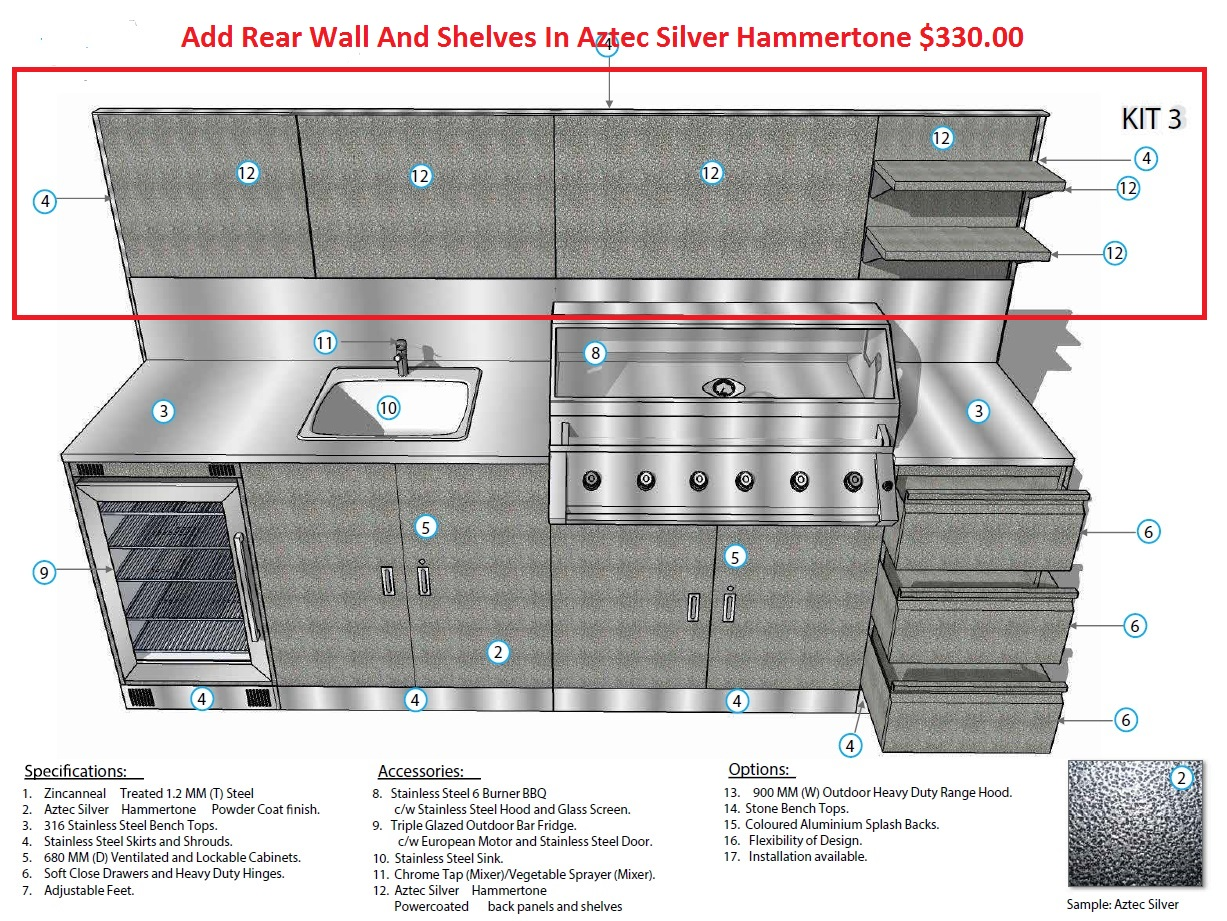Cool Schmick Alfresco Outdoor Kitchen Setup With Barbecue Sink Gmtry Best Dining Table And Chair Ideas Images Gmtryco