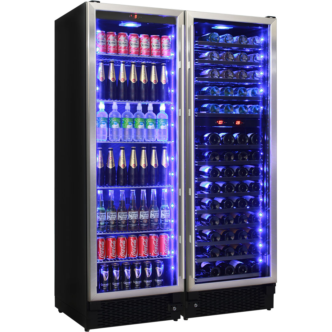 Wine And Beer Upright Bar Fridge Combination