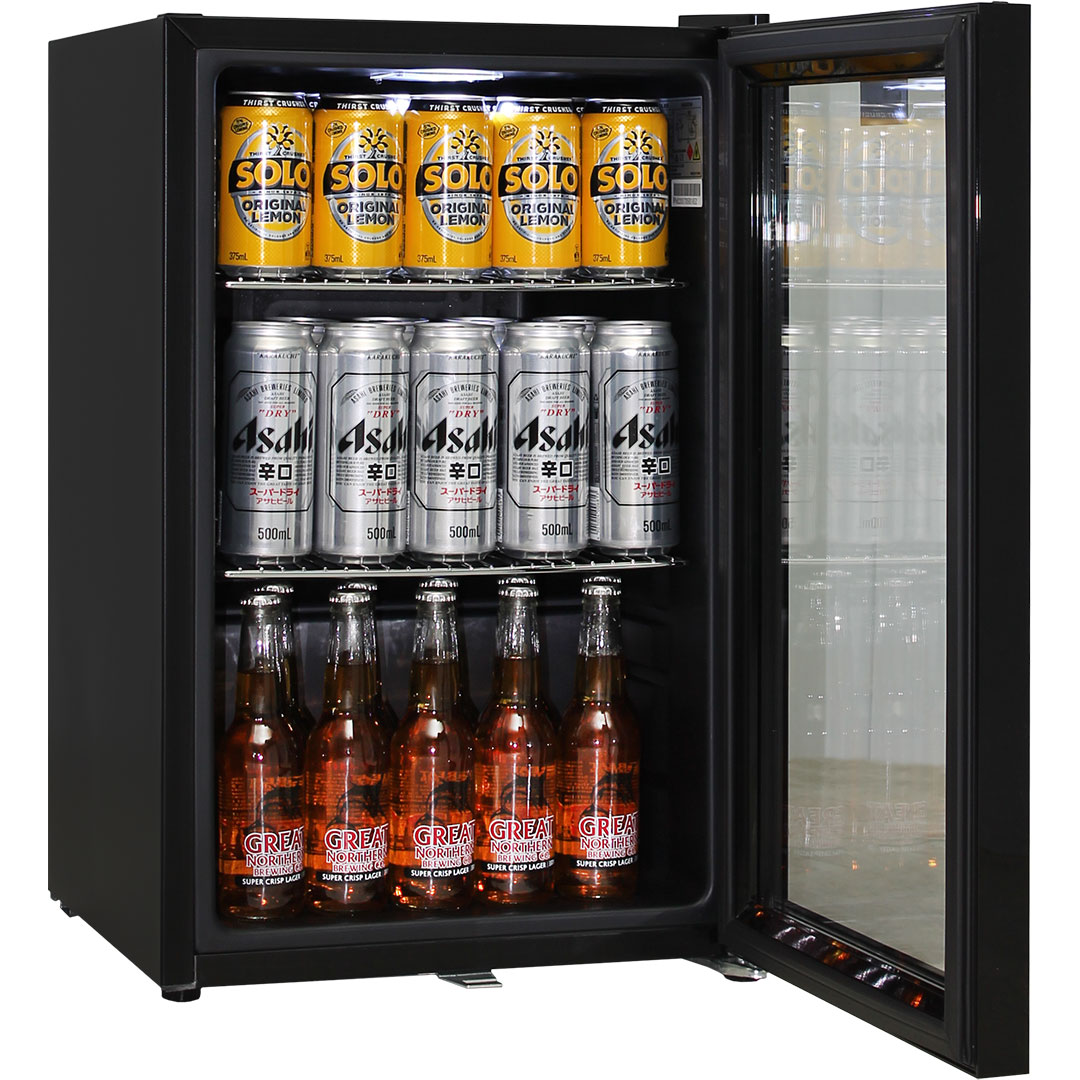 Black Schmick Bar Fridge Low E Glass Door And Lock