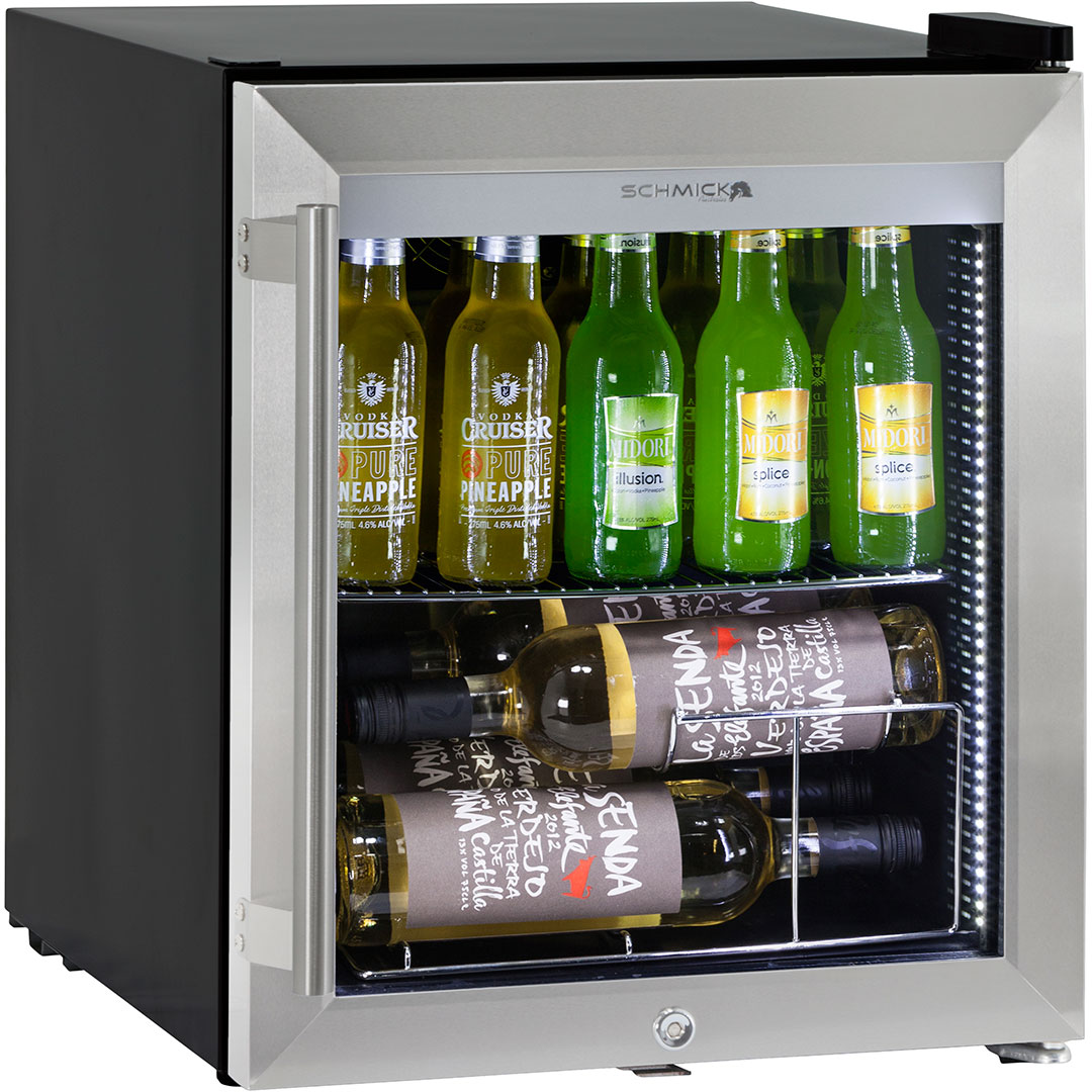 Triple Glazed Bar Fridge Tropical Rating Led Lighting