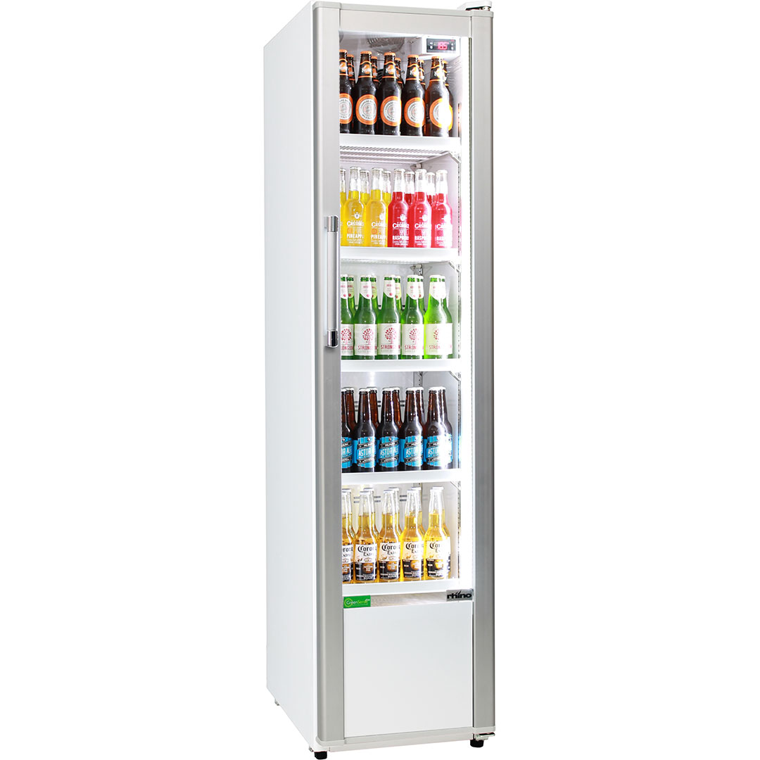 Rhino Commercial Upright Bar Drinks Fridge Skinny Design