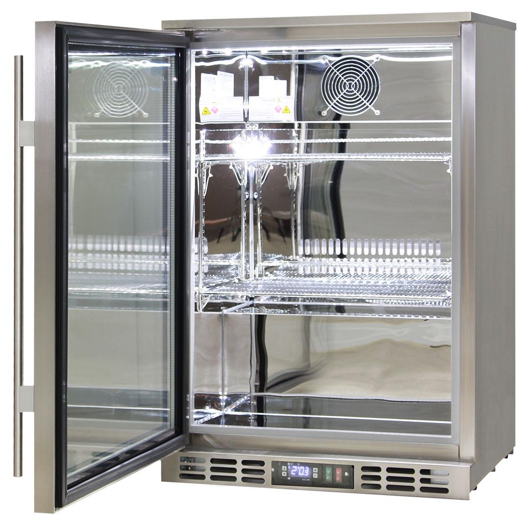 Alfresco Bar Fridge Stainless Steel Glass
