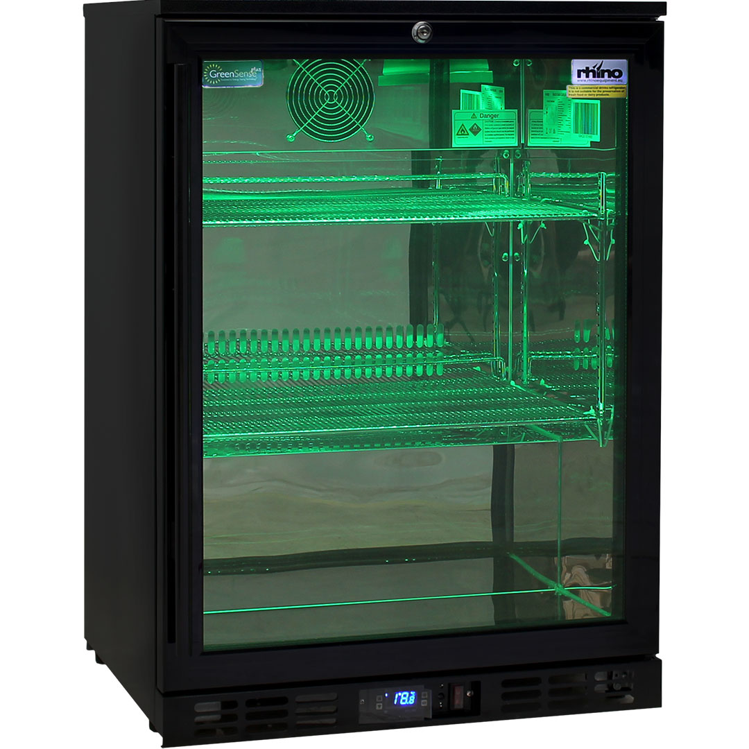 Led Light Multi Colored Commercial Glass Door Bar Fridge