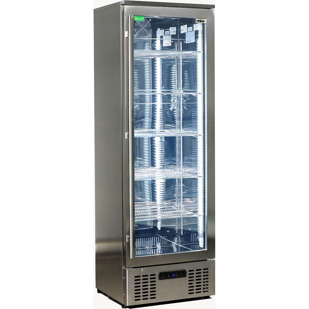 Rhino Stainless Steel Glass Door Commercial Bar Fridge