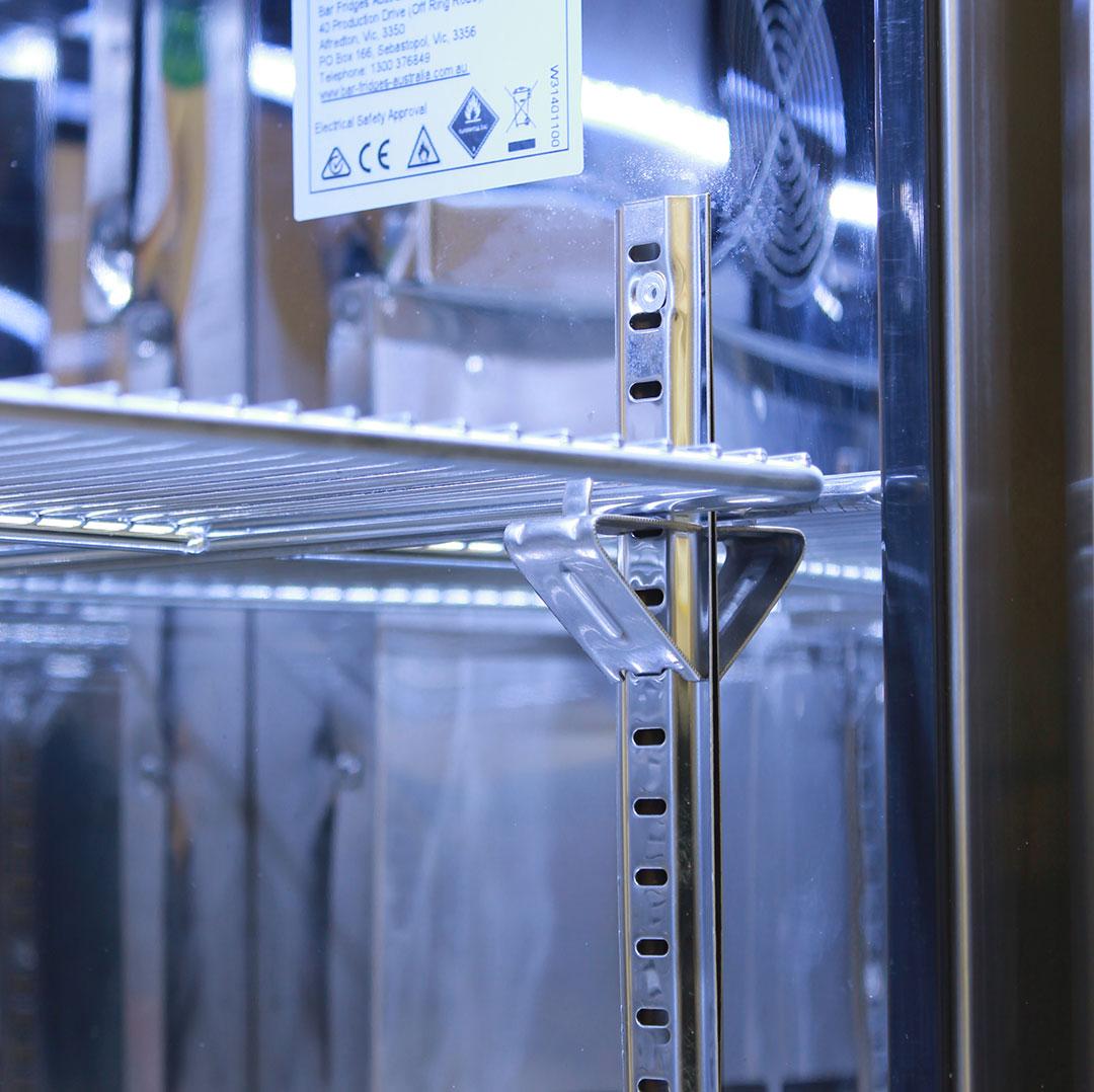 Outdoor Rhino ENVY 1 Door Bar Fridge Coldest Beer 43ºC+ Best Alfresco 316  Stainless Solid Door Quiet Right Hinge