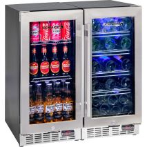 Quiet-Beer-Wine-Bar-Fridge-YC100-Combo  2