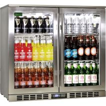 Rhino-Commercial-Triple-Glazed-All-Stainless-Glass-2-Door-Bar-Fridge  4