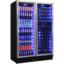Schmick-Glass-Front-Beer-And-Dual-Zone-Wine-Fridge-matching-JC430-COMBO  1