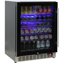 Quiet-Under-Bench-Beer-Fridge-All-Black-Glass-Door  1