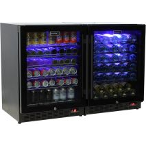 Schmick-Under-Bench-Beer-Wine-Combo-Bar-Fridge-Black-Quiet-Model-SK151BG-Combo  1
