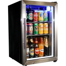 Schmick 68Litre Tropical Rated Mini Glass Door Bar Fridge Model EC68-SSH-(1)