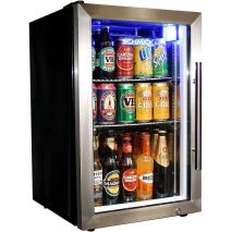 Schmick 68Litre Tropical Rated Mini Glass Door Bar Fridge Model EC68L-SSH-(1)