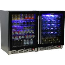 Under-Bench-Quiet-Beer-And-Wine-Glass-Door-Fridge  1