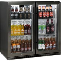 Schmick-Alfresco-Black-Stainless-Bar-Fridge-SK190-BS-White-Led  3