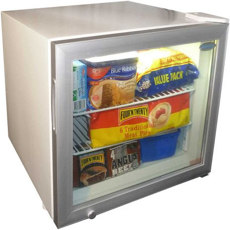 Dellware Little Mini Glass Door Freezer 50Litre Model DW-SD50-(1)