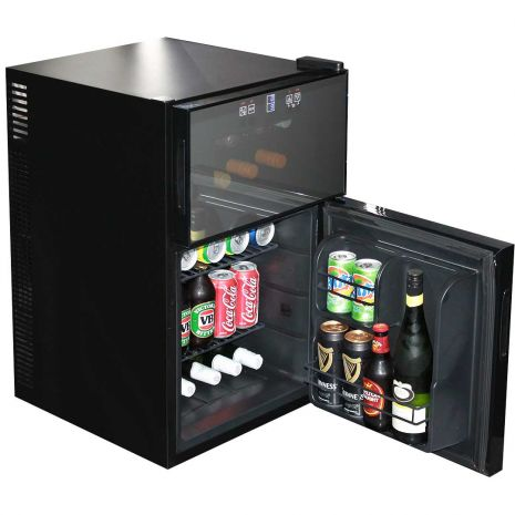 Mini Bar Fridge for Beer and Wine With Two Zones Model BCWH69-(4)