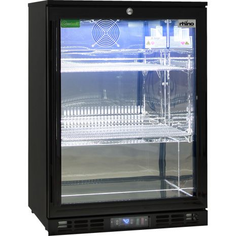 Rhino-Glass-Commercial-Bar-Pub-Fridge-Black-SG1R-B  2