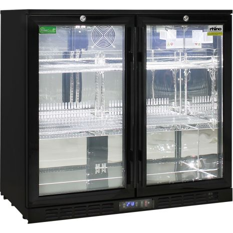 Rhino-Under-Bench-Black-2-Door-Commercial-Alfresco-Bar-Fridge  1