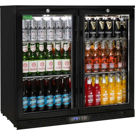 2 Glass Door Commercial Bar Fridge With Lg Compressor