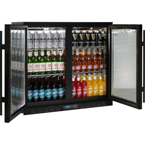 Rhino-Under-Bench-Black-2-Door-Commercial-Alfresco-Bar-Fridge  3