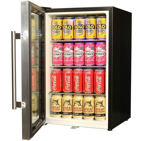Glass Door Mini Bar Fridge Model EC68L-SSH  4