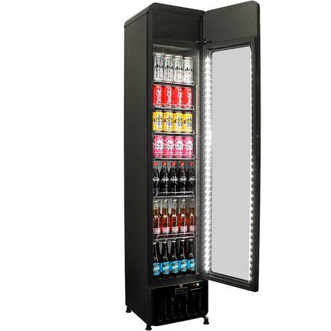 Schmick-Skinny-Upright-Tall-Bar-Fridge-Flat-Glass-Door-SK135-X  2
