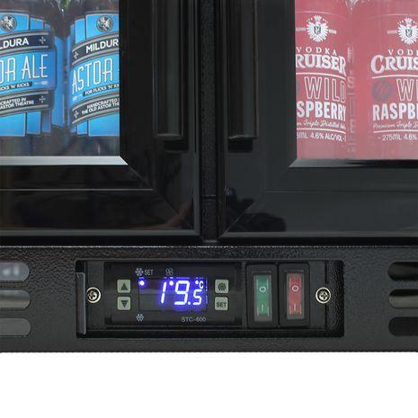 Rhino-Under-Bench-Black-2-Door-Commercial-Alfresco-Bar-Fridge  9  trac-6t