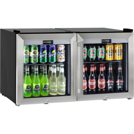 2-Door-Glass-Mini-Fridge-HUS-SC50-SS-COMBO  1