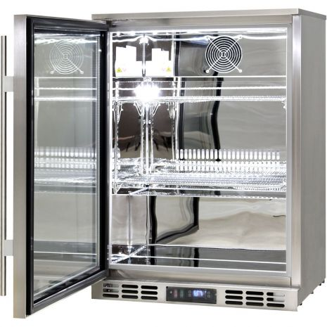 Rhino-Glass-Door-Bar-Fridge-Stainless-Steel-Alfresco-SG1L-SS  2