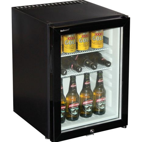 Silent Dellware Mini Glass Door Bar Fridge 40Litre (1)