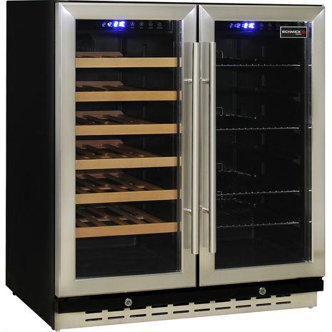 Schmick-Dual-Zone-Beer-And-Wine-Refrigerator-Quiet-Under-Bench  1